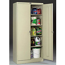 "Fully Assembled Steel Storage Cabinet - 36""W x 24""D x 78""H, TES-7824"