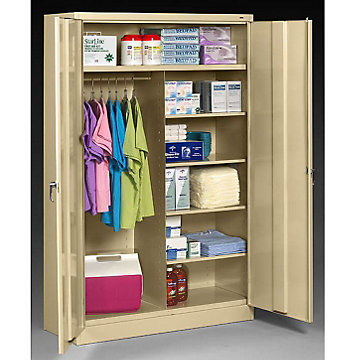 Ready to Assemble Wardrobe/Supply Combo Cabinet - 48W x 24D x 78H, J2478C