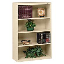"Four Shelf Steel Bookcase - 13-1/2""D, 8804086"