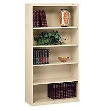 "Five Shelf Steel Bookcase - 13-1/2""D, TES-B-66"
