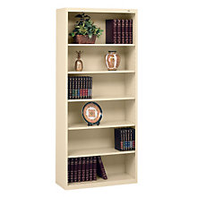 "Six Shelf Steel Bookcase - 13-1/2""D, 8804087"