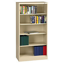 "Five Shelf Steel Bookcase - 18""D, TES-BC18-72"
