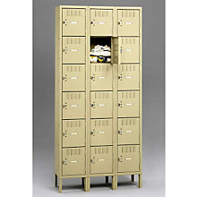 Six Tier Box Locker - Three Units Wide, TES-BS6-121512-3