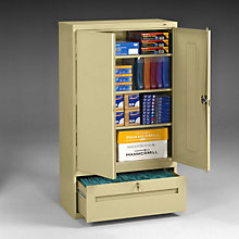 "Storage Cabinet with File Drawer - 66""H, TES-DWR6618"