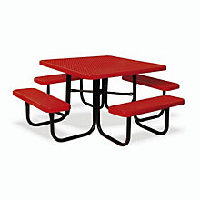 "Thermoplastic Coated Picnic Table - 46"" Square, ULT-358V"