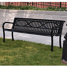 Lexington Wave Style Outdoor Bench - 6'W, ULT-954W6