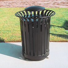Waste Receptacle with Rain Bonnet - 36 Gallon, ULT-LX36-RB
