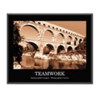 Teamwork Motivational Print, UNE-AVT78162