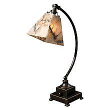 Marius Bronze Task Lamp with Marble Shade, UTT-29838