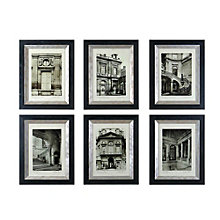 Glazed Champagne Frame Paris Scene Set, UTT-33430