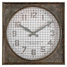 "Square Warehouse 26"" Wall Clock, 8801696"