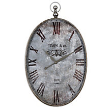 "Oval Pocket Watch 21""W Hanging Clock, 8801704"