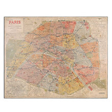 Paris Nouveau Plan - Giclee Wall Art, 8801870
