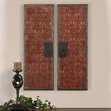 Red Door Panels - Wall Art - Set of Two, 8801876