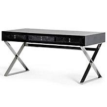"""A & X Crocodile Textured Writing Desk - 57""""W, 8804925"""