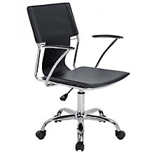 Modrest Chrome Frame Task Chair in Faux Leather, 8804946