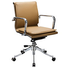 Modrest Low Back Task Chair in Faux Leather, 8804957