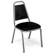 Black Vinyl Stack Chair, VIR-8926S1
