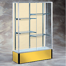 "Spirit Fabric Back Display Case - 48""W x 16""D x 72""H, WAD-10427"