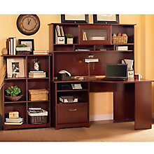 Cabot Corner Desk with Hutch and Six Cube Bookcase, 8804872