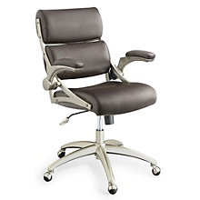Steele Modern Computer Chair with Flip Arms in Bonded Leather, 8801318