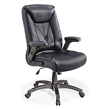 Chelsen Button Tufted Executive Chair in Bonded Leather, 8801321