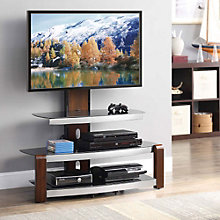 London Glass Shelf Flat Panel TV Stand , 8801324