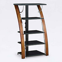 "Madrid 5 Shelf Bent Wood Media Tower - 48""H, 8801325"