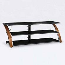 Santiago Bent Wood Flat Panel TV Stand, 8801326
