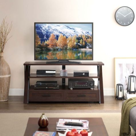 stinson 3 shelf flat panel tv stand by whalen. Black Bedroom Furniture Sets. Home Design Ideas