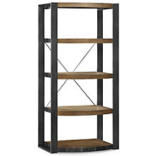 "Santa Fe Five Shelf Distressed Bookcase - 60""H, 8802457"