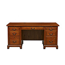 "Zahara Double Pedestal Desk - 66""W, 8803368"