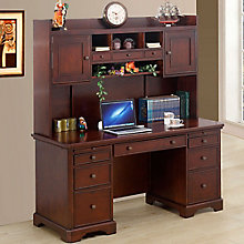 "Canyon Ridge Computer Desk with Hutch - 66""W, 8804693"