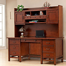"Willow Creek Computer Desk with Hutch- 66""W, 8804702"