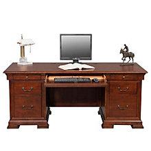 """Classic Cherry Double Pedestal Desk - 72""""W, 8803287"""
