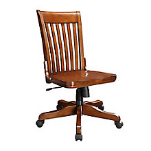Koncept Slat Back Armless Wood Office Chair, 8803327