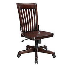 Metro Slat Back Armless Wood Office Chair, 8803340