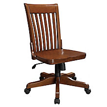 Topaz Slat Back Armless Wood Office Chair, 8803348