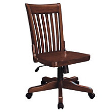 Willow Creek Slat Back Armless Wood Office Chair, 8803289