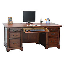 "Country Cherry Executive Desk - 72""W, 8803384"