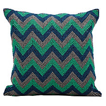 "kathy ireland by Nourison Beaded Chevron Accent Pillow - 16""W x 16""H, 8803811"