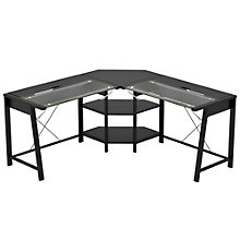 "Vance Lift Top Glass L Desk - 63.75""W, 8802974"