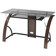 "Claremont Compact Glass Top Wood Frame Desk - 47""W, 8802971"