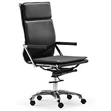 Lider Plus High Back Vinyl Executive Chair, ZUO-21523