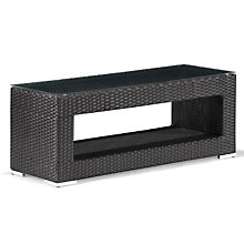 "Algarve 47""W Outdoor Glass Top Coffee Table, ZUO-701152"