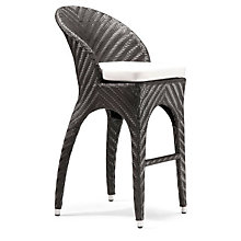 Corona Curved Back Outdoor Bar Height Chair, ZUO-701220