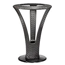 "Corona 18"" Diameter Glass Top Outdoor Bar Height Table, ZUO-701221"