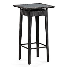 Railay Glass Top Outdoor Pub Table, ZUO-701260
