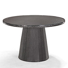 "Avalon 47"" Round Glass Top Outdoor Table, ZUO-701350"