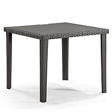 "Cavendish 36"" Glass Top Square Outdoor Dining Table, ZUO-701356"